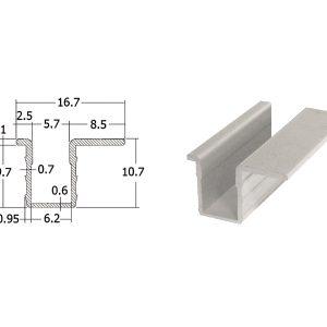 19 300x300 - รางอลูมิเนียมร่องตื้น ยาว 6 เมตร